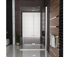 Cabine de douche design 90 x 140 x 195 Easy Clean Glasdeals SPA-FIX Cabine de douche en verre avec verre veredelung douche