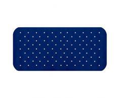 Tapis de fond de bain casa pura® Relax antidérapant bleu foncé | pour douche, 3 tailles | sans PVC/latex, antiglisse | 63x37cm