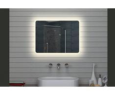 Lux de Aqua Design Miroir mural Miroir lumineux LED Salle de Bain Miroir 80 x 60 cm
