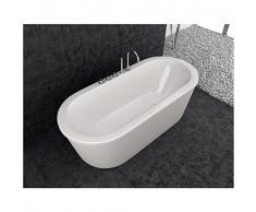 Baignoire balnéo design ovale LOFT blanche En stock (livrable sous 15 jours)