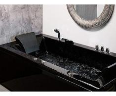 Baignoire d'angle rectangulaire - baignoire balnéo / whirlpool - hydromassage & chromothérapie - Varadero (D)