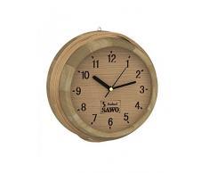 SAWO Sauna Horloge en bois Pin, Aspen ou Cèdre; Taille: Ø 260mm; Pour l'extérieur de l'utilisation de la cabine de sauna ou du sauna infrarouge intérieur