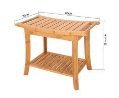 Tabouret de bain banc antidérapant de salle de bains en bois siège de bain de vieillard siège de baignoire chaise de douche anti-dérapante de main courante handicapée / capacité portante forte