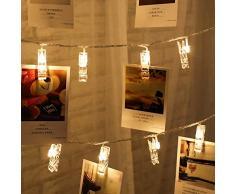 Bande Lumineuse Balight Photo Clip LED Boîte à piles LED Bande Lumineuse Décoration De Mariage Maison Décoration De Fête De Douche De Noël Guirlande De Noël 1/2/3 / 5m