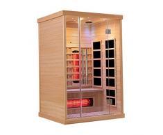 Könighaus Sauna infrarouge en céramique pour 2 personnes en bois Hemlock