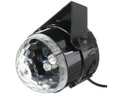KINGSO Lampe de Scène 5W 100-240V Lumière de Stade Eclairage Soirée Mini Projecteur Spot RGB/GVB LED pour KTV, Bar, DJ Disco, Lumière d'Atmosphère Ampoule Boule Cristal à Commande Sonore Noir