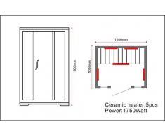 Sauna cabine Sauna infrarouge chaleur modèle OSLO