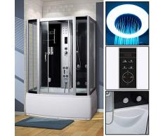 Bocy Boon Cabine de douche d'angle Vapeur salle de bain moderne avec 4 jets de massage