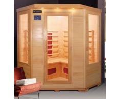 Sauna infrarouge 150 x 65 x 120 pour 4 personnes avec ioniseur et chromathérapie