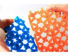 SHINA 8 pièces couleur bonbons caoutchouc tapis de douche antidérapant étanche Tapis de bain Splicing élégant tableau Mats