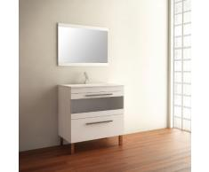 Mennza - Ensemble de salle de bain CALA meuble blanc 80 cm