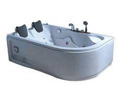 Baignoire jacuzzi d'angle 2 personnes nouvelle 170 x 115 cm intérieur 2 personnes nouvelle Bath Tub Whirlpool Pool Bade