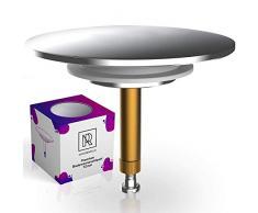 M. ROSENFELD Bouchon de Baignoire Premium Universel Ø72mm (Chrome)