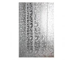 Moolecole rideaux de douche étanche moisissure douche transparent épais rideau Pebble Grain Rideau de douche Largeur 220cm Hauteur 180cm avec C en forme d'anneau