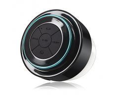 Bluetooth douche Président, DLAND étanche haut-parleur stéréo sans fil Bluetooth antichoc intégré dans Mic Mini pour Paires parleur -Portable flux radio FM avec tous Smartphones- sans fil haut-parleur - Musique & Fun Indoor & Outdoor