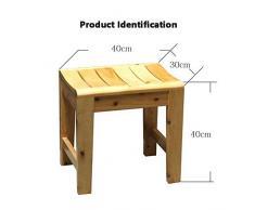 ZDXMZ Tabouret de Douche/Baignoire/Spa carré extérieur en Teck Massif, Table d'appoint, entièrement assemblé