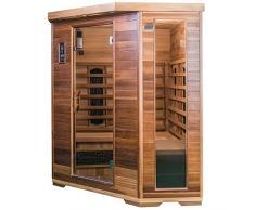 SaunaMed Sauna de luxe en cèdre à infrarouge pour 4-6 personnes EMR NeutralTM