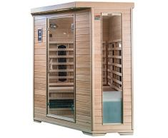 saunamed 4–6 personnes classique Hemlock Far Sauna infrarouge EMR neutraltm