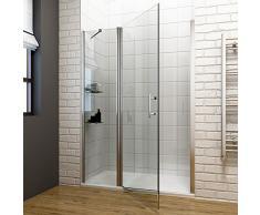 SIRHONA porte de douche 106 x 185 cm porte pivotante en niche, 6 mm verre securit