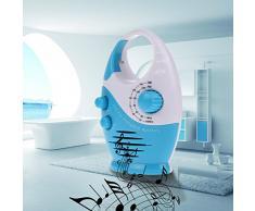 Vanpower Mini AM FM Radio de douche à suspendre de salle de bain étanche Musique radio 2 couleurs bleu