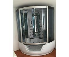 Baignoire Douche balnéo massante Model Montecarlo 150 x 150 cm angle haute spa Hydromassage Radio Cascade