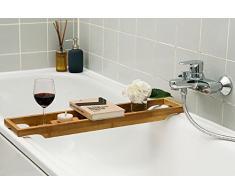 Belle Coussin de Baignoire, planche de bain, bain, de Baignoire en Bambou 70 cm x 14,5 cm
