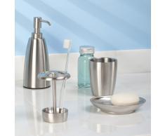 InterDesign Forma, Porte-brosse à dents pour les coiffeuses de salle de bain - Acier inoxydable brossé