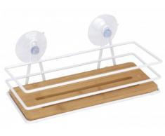Etagère pour salle de bain en bambou - étagère murale - à accrocher - tablette de rangement pour douche,baignoire ou salle de bain