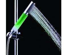 pepeng 7-colors lumineux LED tête de douche douchette, pomme de douche à la lumière aux couleurs changeantes automatique votre salle de bain Design avec l'eau pour, sans batterie nécessaire (Normal)