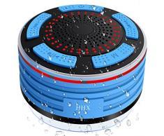 HHX-FXYX-001-FR Haut-parleur de douche, Bluetooth 4.0 Haut-parleur imperméable à l'eau, microphone intégré, radio FM et multiple LED couleur Mini haut-parleur portable pour douche.
