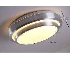 Plafonnier rond LED pour salle de bain ou bureau - 1380 Lumen - 3000 Kelvin - IP 44