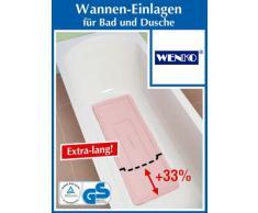 Tapis de baignoire WENKO florida - rose - 90 x 36 cm - anti-dérapant - tapis de bain