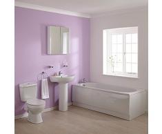 HUDSON REED Lot Baignoire d'Angle, Lavabo et Toilette WC Moderne