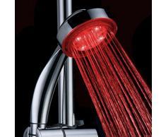 Douchette LED Lumineuse Pommeau de Douche LED Robinet LED Salle de Bain Couleur change Automatique selon la température de l'eau - Style A