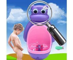 CHUNLAN Urinoir mural pour garçon, auge séparée, peut être utilisé seul, urinoir debout avec ventouse, 2 couleurs (Couleur : Violet)