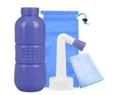 Bidet portable de voyage, vaporisateur personnel pour le lavage des mains des enfants, des femmes enceintes, nettoyage post-partum, capacité de 450 ml et buse coudée avec serviette