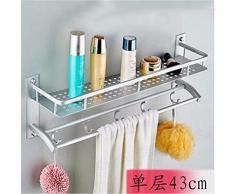 Accessoires de salle de bains ou cuisine,barre de serviette Mural Support de Rack de stockage,l'Organiser tous les étagère avec porte-serviettes chauffant et sèche-serviettes,sèche-serviettes en aluminium d'espace,petite étagère de rangement 43cm