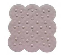 MSV 140200 Tapis de Douche Caoutchouc + Carbonate de Calcium Rose 54 x 54 x 0,1 cm
