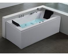 Baignoire rectangulaire - baignoire balnéo - chromothérapie et hydromassage - Varadero (G)