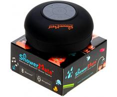 Enceinte haut-parleur sans fil Bluetooth pour la douche ShowerMate   Radio de douche étanche avec kit main libre et micro intégré   Compatible avec tout appareil Bluetooth – Noir