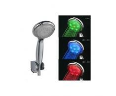Pommeau de douche LED 3 couleurs lumineux
