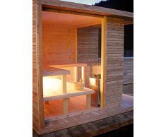 grandform sauna de jardin avec chauffage électrique ou à bois Outside Pro (cm. 280 x 200 x 208 H.)