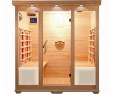 Bagno Italia Sauna infrarouge 175 x 135 pour 4 personnes en bois Hemlock avec chromothérapie