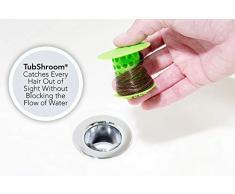 TubShroom, Bouchon Filtre Protecteur révolutionnaire pour Baignoire et Douche, Silicone, Green, Taille Unique