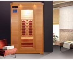 Sauna infrarouge 120 x 115 deux personnes avec chromathérapie et double panneau de contrôle