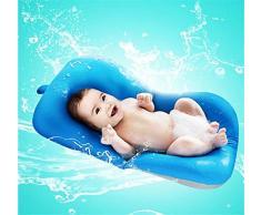 belupai Tapis de bain bébé nouveau-né pliable bébé bain baignoire coussin chaise étagère nouveau-né siège de baignoire nouveau-né coussin tapis de bain(Bleu)