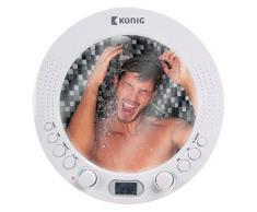 Radio aM fM douche de salle de bains radio de douche sans fil résistant à l'avec miroir eau