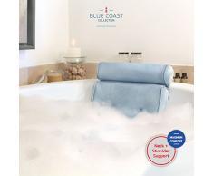 Blue Coast Collection–Coussin de bain pour baignoire et jacuzzi! L'oreiller de spa Bonnieu (Bleu)