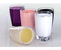 Bellabrunnen Salle de bains Essentials 5 Accessoires Set - Tumbler, savon à vaisselle, distributeur de savon, toilettes Brush & Holder Rose