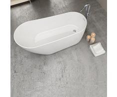 Baignoire ilot ovale 180 cm en acrylique - Dalia